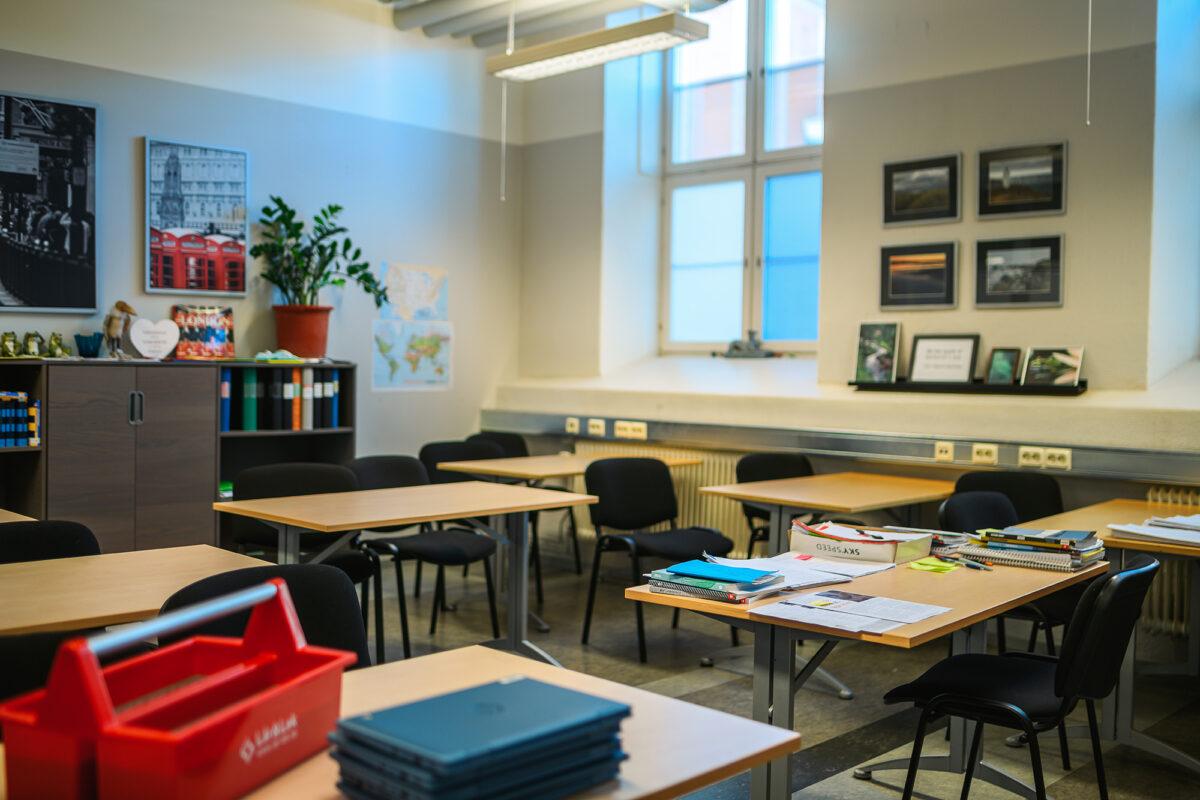Bild på ett klassrum